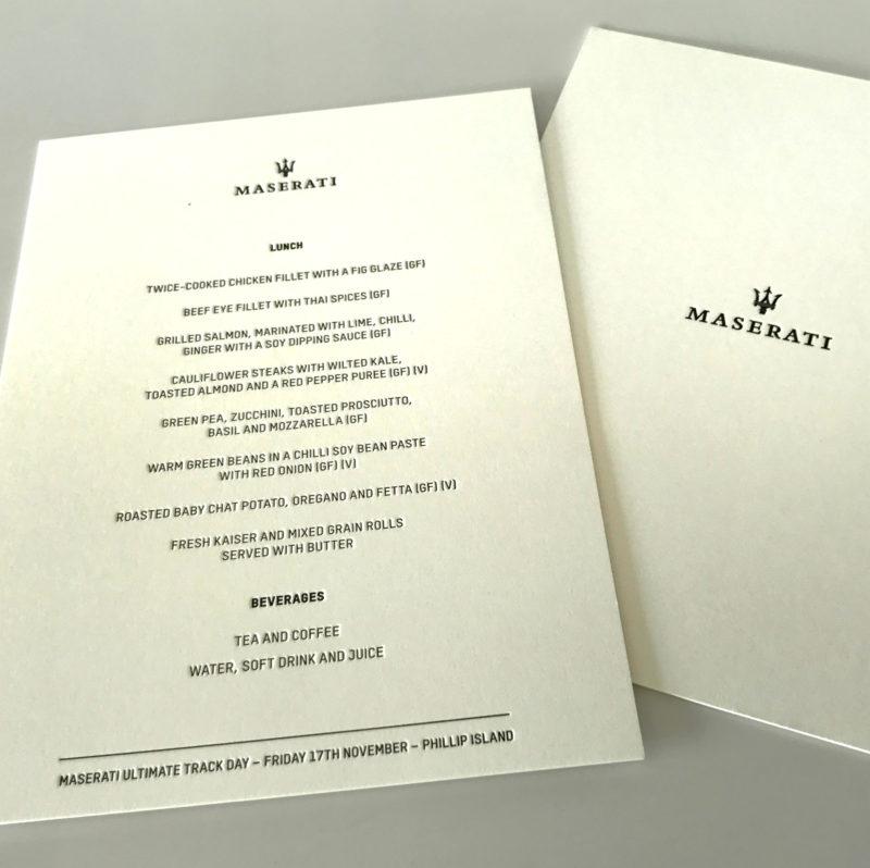 Maserati menus